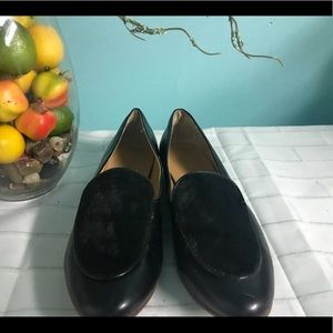 J.CREW Shoes Size 8.5 Calf Hair Stacked Heel